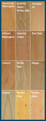 Select Your Wood - click here