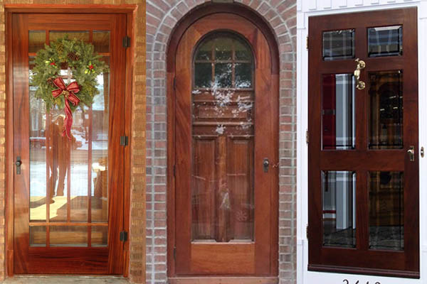 Solid Wood Storm Doors, Wooden Storm Door by Vintage Doors ...