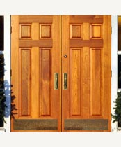 DB119 Solid Wood Double Door