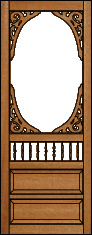 Southern Charm Victorian Porch Panel