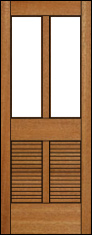 Antigua Louver Screen Door