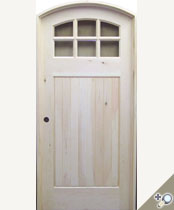 C415AT Arch Top Glass Panel Craftsman Door