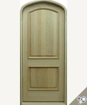 D106 TAT Arch Top Solid Wood Door