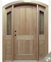 EU124 Arch Top Solid Wood Entrance Unit