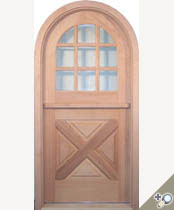 DD202RT Round Top Glass Panel Dutch Door