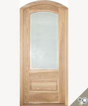 G114AT Arch Top Glass Panel Door