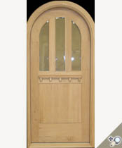 C409RT Round Top Glass Panel Craftsman Door