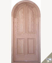 D102RT Round Top Solid Wood Door