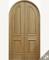 DBL-D106RT Round Top Solid Wood Double Door