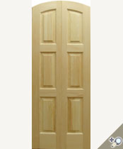 DBL-D111-AT Arch Top Solid Wood Double Door