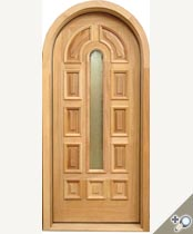 D121RTG Round Top Glass Panel Door