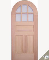 C416RT Round Top Glass Panel Door