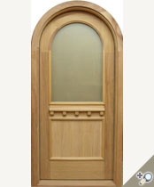 G137RT Round Top Glass Panel Door