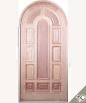 D121RT Round Top Solid Wood Door