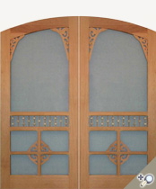 Arch Top Chelsea Screen & Storm Double Door