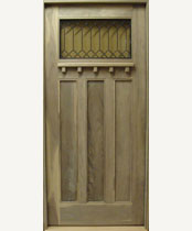 C405-SG Stained Glass Craftsman Door