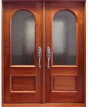 DB108 Glass Panel Double Door