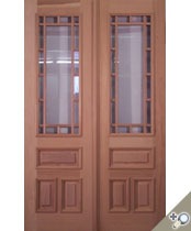 DB100 Glass Panel Double Door