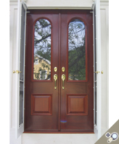 DB109 Glass Panel Double Door