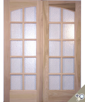 DB101 Glass Panel Double Door