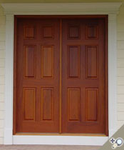 DB104 Solid Wood Double Door