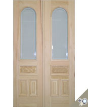 DB105 Glass Panel Double Door