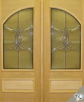 DB115 Glass Panel Double Door