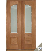DB106 Glass Panel Double Door