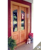 DB107 Glass Panel Double Door