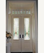DB121 Glass Panel Double Door