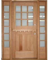 DE106 Glass Panel Dutch Entrance Unit