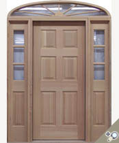 EU114  Arch Top Solid Wood Entrance Unit