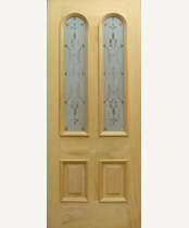 G121-SG Stained Glass Entrance Door