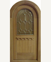 G137RT-SG Round Top Stained Glass Door