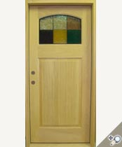G129-SG Stained Glass Entrance Door