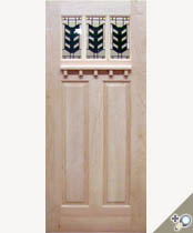 C403-SG Stained Glass Craftsman Door