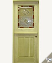 DD205-SG Stained Glass Dutch Door