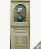 DD218-SG Stained Glass Dutch Door