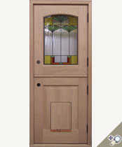 DD219-SG Stained Glass Dutch Door