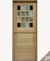 DD223-SG Stained Glass Dutch Door
