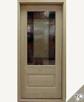 G114-SG Stained Glass Entrance Door