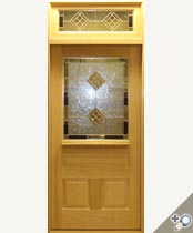 G155-SG Stained Glass Entrance Door