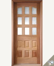 SG-100 Stained Glass Entrance Door