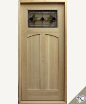 C425-SG Stained Glass Craftsman Door