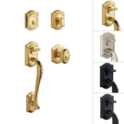 distinctive exterior, interior door hardware, knob, lever, grand ...