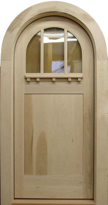 C404RT Round Top Glass Panel Craftsman Door & Round Top Doors u0026Arch Doors at Vintagedoors.com - YesterYearu0027s ...