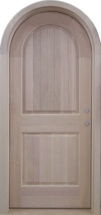 Charmant D119RT Round Top Solid Wood Door
