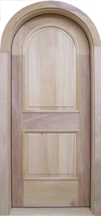 Superbe D119RT Round Top Solid Wood Door