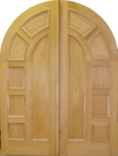Charmant DBL D121 RT Round Top Solid Wood Double Door