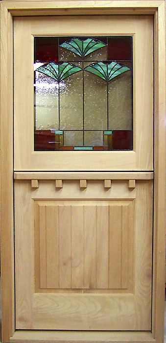 Superb DD234 SG Stained Glass Dutch Door